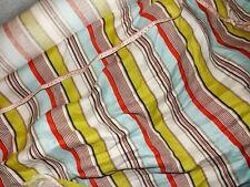 tissu lin rayures multicolores 50x140 cm