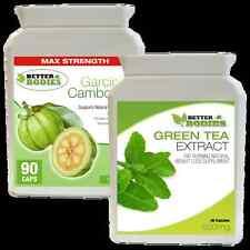 90 Garcinia Cambogia 1000MG & 90 Extracto de Té Verde 850MG Pastillas para perder peso