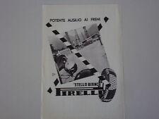 advertising Pubblicità 1939 PNEUMATICI PIRELLI STELLA BIANCA