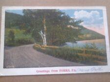 VINTAGE POSTCARD GREETINGS FROM FORKS, PA. 1931