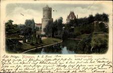 Nijmegen Nimwegen Litho-AK 1900 Holland Partie im Kronenburger Park Turm