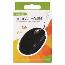 Kinoken Optical Mouse USB 2.0 800DPI H-28370 Precision/Hi/Speed/Windows/MAC/NEW