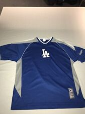 Los Angeles Dodgers LA Majestic S/S Polyester Practice Pullover Mens Size L
