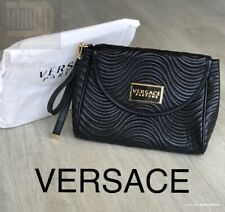 24c34765eb 🆕💖❤️VERSACE Parfums Black Clutch Purse Hand Bag Detachable Strap New  Sealed❤️