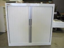 White Metal Elite Built Medium Tambour Cabinet