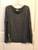 Danskin Now Size Large 12/14 Gray Sweater