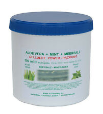 CELLULITE  POWER-PACKUNG  ALOE VERA + MINT + MEERSALZ