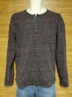 Scotch & Soda Bonjour Gray Heathered Henley Shirt Mens Size Medium M EUC