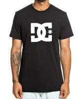 DC SHOES MENS T SHIRT.NEW STAR 2 SHORT SLEEVED BLACK CREW TEE COTTON TOP 9S 0 KV