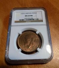 GREAT BRITAIN 1929 PENNY NGC MS64 RB MS 64 England Certified UK Unc Coin