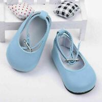 Mode handgefertigte Puppe blau Schuhe für 18 Zoll Mädchen Puppe Schuh Baby