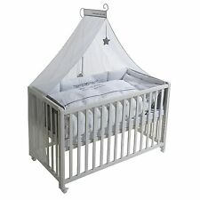 Roba Room Bed Kinderbett Beistellbett Rockstar Baby 2 60x120 weiß lackiert NEU