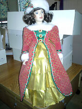 New Boxed Royalton Collection Porcelain Doll named Holly Collectible