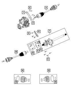 Genuine MOPAR Intermediate Shaft 68052285AC