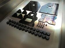 OX CNC Routeur portique plates + 28 Xtreme Solid V Slot wheels 13 Eccentric Spacers