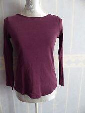 T-shirt camaieu violet à manches longues, taille S
