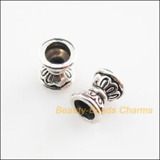 20Pcs Tibetan Silver Tone Flower Cone Spacer Beads Charms 6.5mm