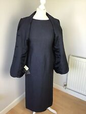 Brand New Vintage Laura Ashley Long Smart Dress Suit Linen Jacket Indigo Size 8