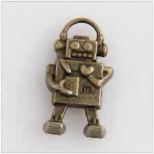 35 Robot Bronze Plated Charms Pendants Jewelry Making Findings EIF0441