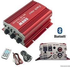 AMPLIFICATORE AUDIO BLUETOOTH AUTO 12V FM USB MP3 x STEREO AUTORADIO TELECOMANDO