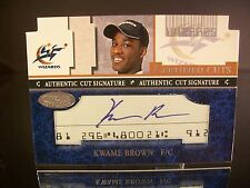Insert Kwame Brown Fleer Certified Cuts 2001 Card #CCKB AUTOGRAPHED Wizards