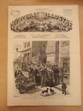 L'UNIVERS ILLUSTRE 6 OCTOBRE 1877 N° 1176 PARIS LA PERIODE ELECTORALE AFFICHAGE
