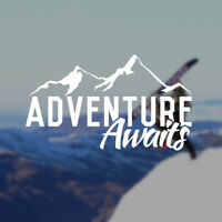 Adventure Awaits Decal | Travel Explore Outdoors Car Window Sticker Hiking