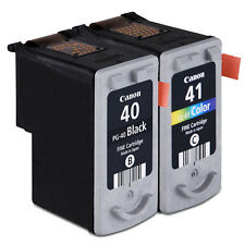 Canon Genuine 2PCS Pixma PG-40 Black CL-41 Color Fine Ink Cartriges New Sealed