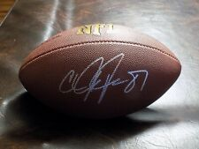 CALVIN JOHNSON AUTOGRAPHED LIONS NFL FOOTBALL W/COA