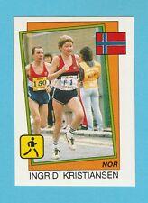 ATHLETICS - PANINI - SUPERSPORT STICKER NO. 20 -  KRISTIANSEN OF NORWAY  - 1987