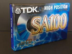 NEW OLD STOCK SEALED BLANK CASSETTE TDK SA 100 min