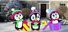 PENGUINS GIFT EXCHANGE CHRISTMAS WOODWORKING PATTERN,plan,craft yard art