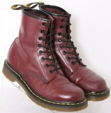 Dr. Doc Martens 11821 Burgundy Leather Lace-Up Combat Boots UK 6 Women's US 8