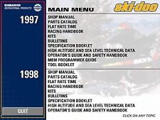 1998 Ski-Doo SKANDIC 380 500 WT LC SWT MX Z x Mini Z Shop Repair Manual 98 on CD
