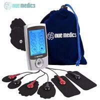 NueMedics PRO 24 Rechargeable TENS Unit with 8 Reusable Pads + Travel Pouch