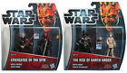 Star Wars TPM3D DARTH VADER SIDIOUS MAUL ANAKIN SKYWALKER 2Pack Hasbro THE RISE