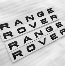 NEW RANGE ROVER GLOSS BLACK BONNET & BOOT LETTERING BADGE SPORT VOGUE EVOQUE