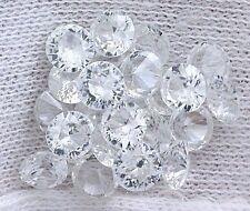 TEN 1.1mm Round AAA Brilliiant Natural White ZIRCON Round Melee Accent Gemstone