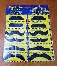 12 fancy dress black MOUSTACHES Stick on Fake Tash Moustache New