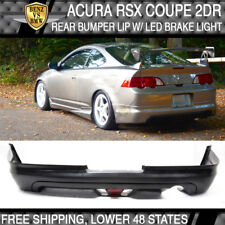 Fits Acura RSX Coupe 02-04 Mugen Style Rear Bumper Lip Spoiler + LED Brake Lamp
