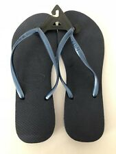Womens Havaianas Slim Flip Flops Sandals Size 41/42 Navy Blue