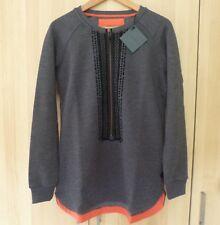 ASOS Women's GSUS Grey Zip Long Sweatshirt Tunic Top Small - BNWT