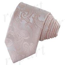 New Brand Q Men's Micro Fiber Paisley Neck Tie necktie only Peach Prom wedding