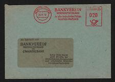 OPC 1952 Germany Herford Bankverein Francotyp Private Advertising Meter