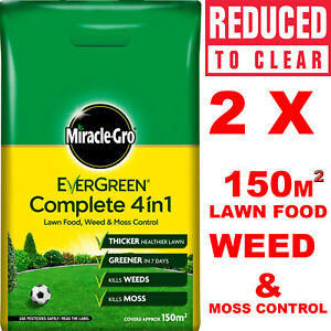 Miracle Gro Evergreen Complete 4 in 1 Lawn Food Weed & Moss Control Feed 400sqm