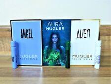 3 x Thierry Mugler Ladies Samples Alien, Angel & Aura EDP 1.2ml Vial Sprays
