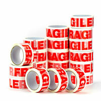 12 ROLLS OF FRAGILE PRINTED STRONG PARCEL PACKING TAPE CARTON SEALING 48MM X 66M