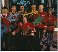 STAR TREK Original Cast RARE SIGNED 8x10 PHOTO AUTOGRAPH