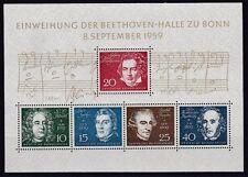BRD 1959 postfrisch  MiNr. Block 2  Einweihung der Beethovenhalle Bonn