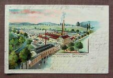 Bautzen FABRIK - Wagenbauanstalt u. Waggonfabrik, W.C.F. Busch - LITHO gel. 1901